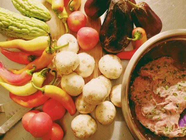 Preparing Stuffed Vegetables